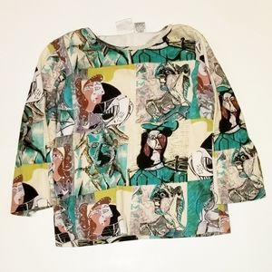 TAKE TWO vintage Picasso top